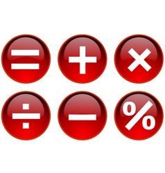 math symbol vector image
