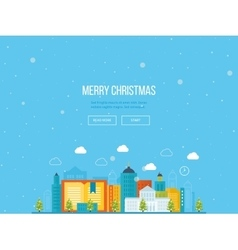 Merry Christmas greeting card design Urban vector image