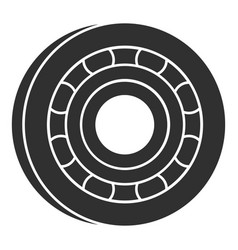 metal bearing icon simple style vector image