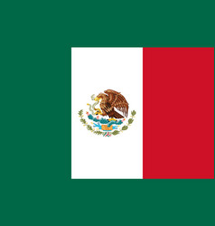 Mexico flag national mexican emblem icon of eagle vector