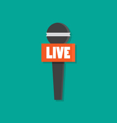 microphone news flat style vector image