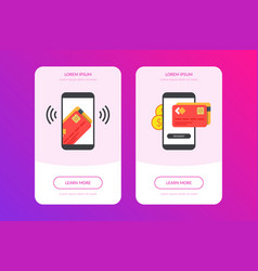 mobile payment concept with of vector image