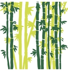 Monochrome bamboo background vector