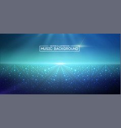 music abstract background blue eps10 vector image