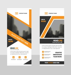 Orange roll up business brochure flyer banner vector