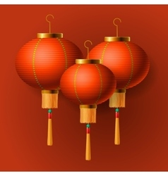 Oriental Chinese New Year lantern vector
