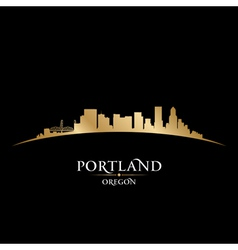 Portland Oregon city skyline silhouette vector image