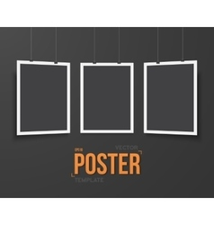 Poster Mockup Realistic EPS10 Black vector