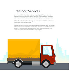 Poster shipping and freight of goods vector