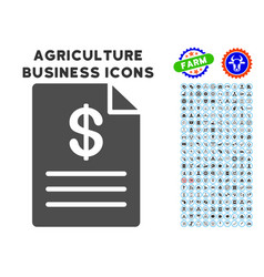 Price list icon with agriculture set vector