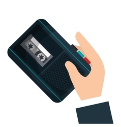 Radio recorder breaking news vector