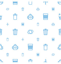Recycle icons pattern seamless white background vector