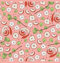 seamless apple pattern vector image