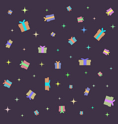 seamless background from gift boxes of various vector image