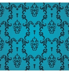 Seamless blue pattern with art ornament vector