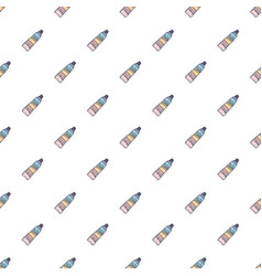 Seamless pattern with hand drawn bottles and tubes vector