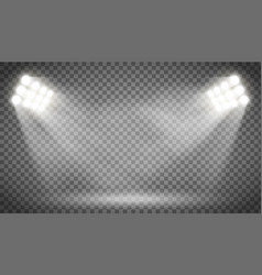 searchlight illuminates the blank backdrop vector image