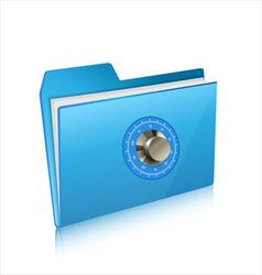 Security of computer folder with combination lock vector image