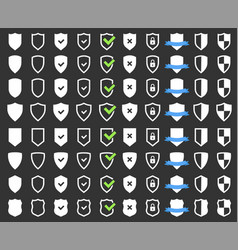 security protection icons set shield icon vector image