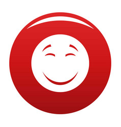Smile icon red vector
