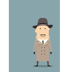 Spy or detective agent in coat vector image