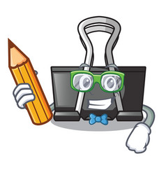 Student binder clip isolated on the cartoon vector