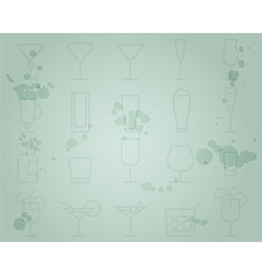 Summer cocktail party grunge background with vector