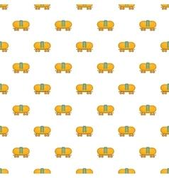 Tanker trailer on train pattern cartoon style vector