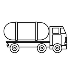 Tanker truck icon outline style vector