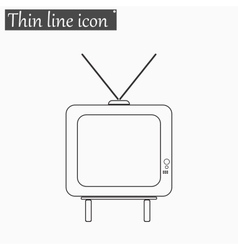 TV icon Style thin line vector image