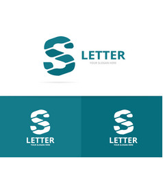 Unique letter s logo design template vector