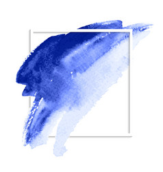 Watercolor blue vector