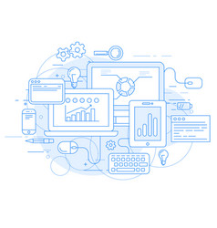 website analytics and online marketing tools vector image