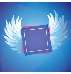 White wings with square frame vector