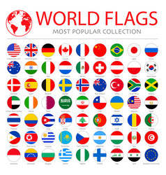 world flags collection 63 high quality clean vector image