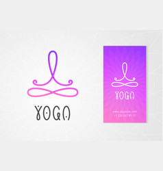 Yoga studio logo design template vector