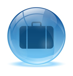 Blue abstract 3d business bag icon vector image
