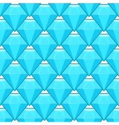 blue diamonds seamless pattern vector image vector image