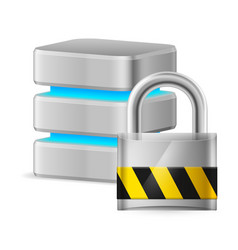 computer database icon off on white background vector image vector image
