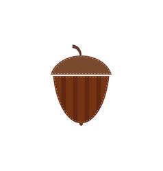 flat acorn icon isolated on white background vector image