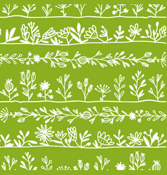 herbs seamless pattern for your design vector image vector image