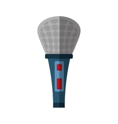 microphone music karaoke shadow vector image