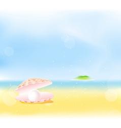 Summer Beach Pearls vector image vector image