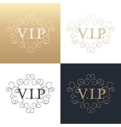 Calligraphic design element Golden logo vector image