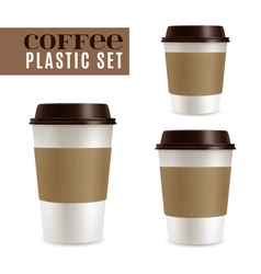 Coffee Covers Set vector image vector image