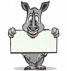 cute rhino mascot vector image