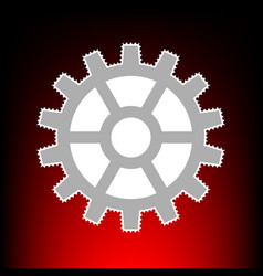 gear style on red vector image