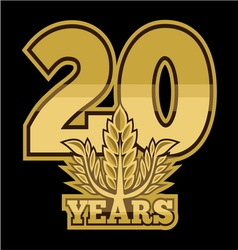 LaurelNew New 20 godina resize vector image vector image