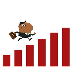 Businessman Running with Growth vector image vector image