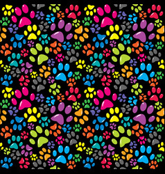 colorful background with paws vector image